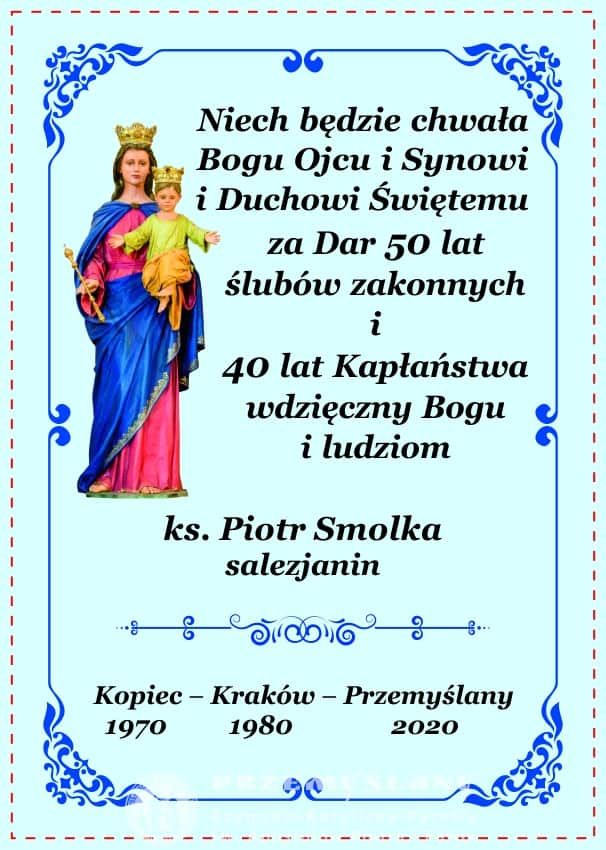 Uroczystość Dziękczynna – ks. Piotr Smolka