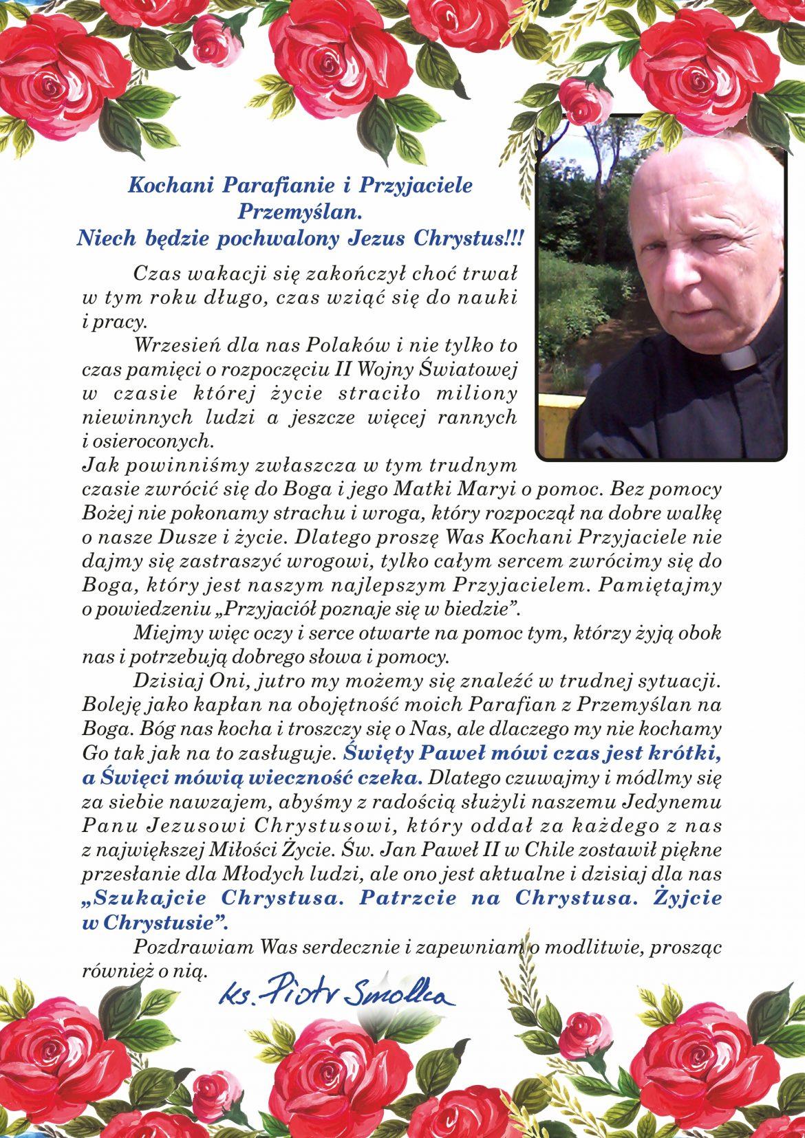 Krótki list Proboszcza na wrzesień 2020
