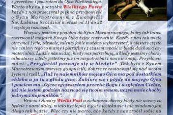 List Proboszcza na luty 2021